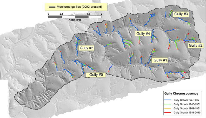 Gully summary aerial map.